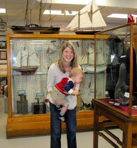 family visitors to the Huronia Museum
