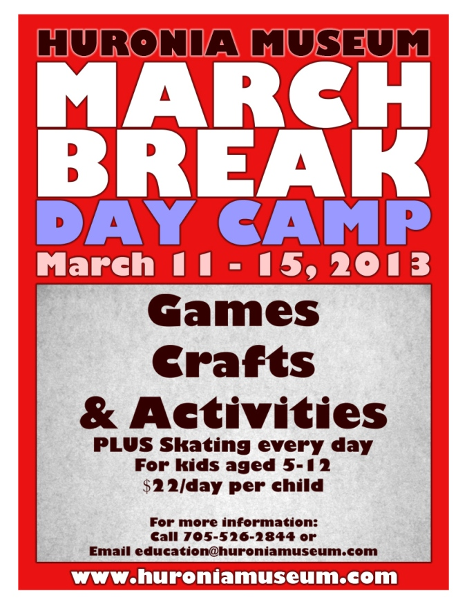 March Break Poster 2013