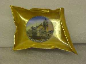 Souvenir candy dish of St. Paul's United Church in Midland, donated by David Archer.The Huronia Museum has a collection of souvenir dishes from the Huronia area.