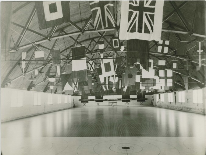Inside the Midland Curling club, Date unknown.