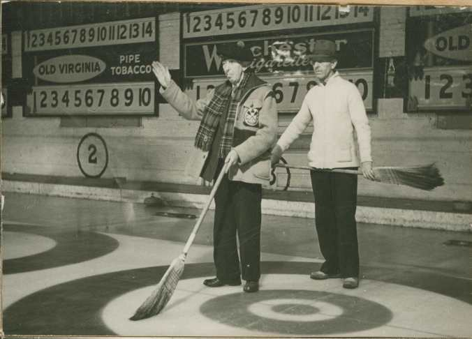 Fred Hill and Ike Cumming of the Midland Curling Club.