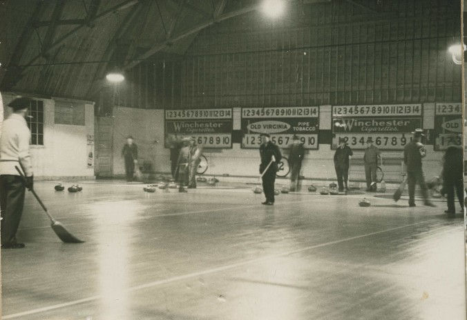 The Midland Curling Club in full swing.