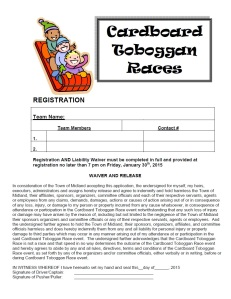 Toboggan Races Registration form