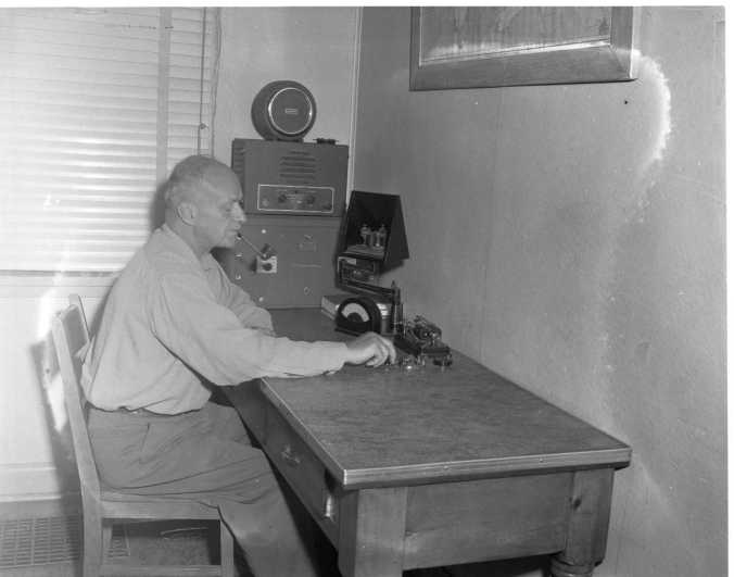 pine crest admire office table 4. Replaced By Electronic Gear The Old Hand Operated Morse Key Is Still Music  To Ear Of Veteran Operators Like Anthony Blouin Who Has Worked For Pine Crest Admire Office Table 4 A