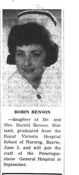 Robin Benson June 10, 1964